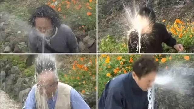 Une fontaine d'eau trop puissante, caméra cachée hilarante du Japon