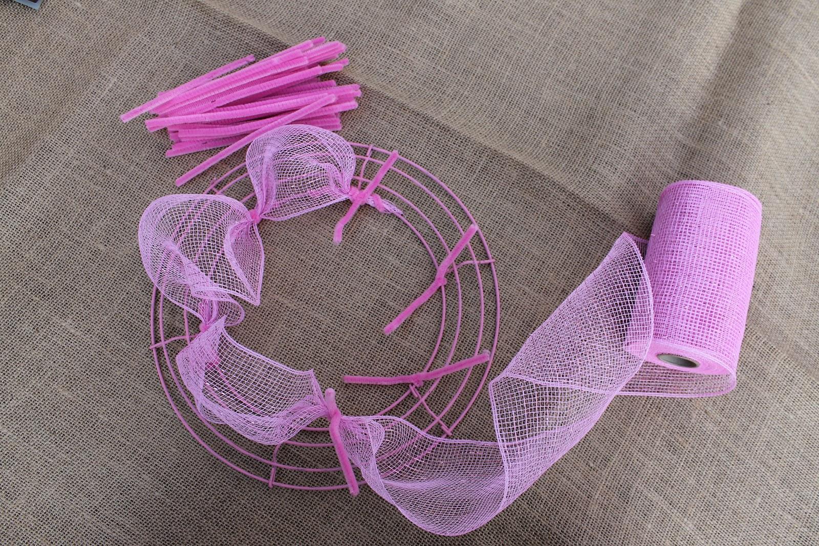How to make deco mesh wreaths miss kopy kat baditri Gallery
