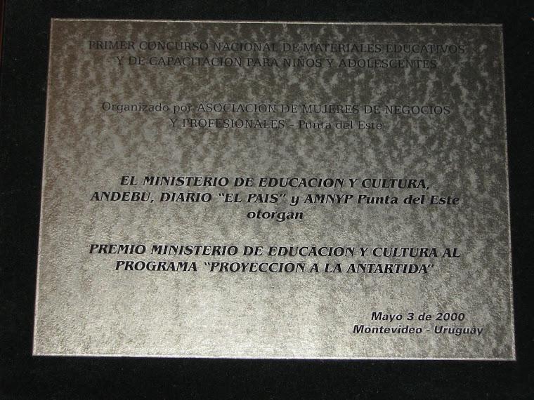 Primer Concurso Nacional de Materiales Educativos para Niños y Adolescentes - 3 de Mayo de 2000