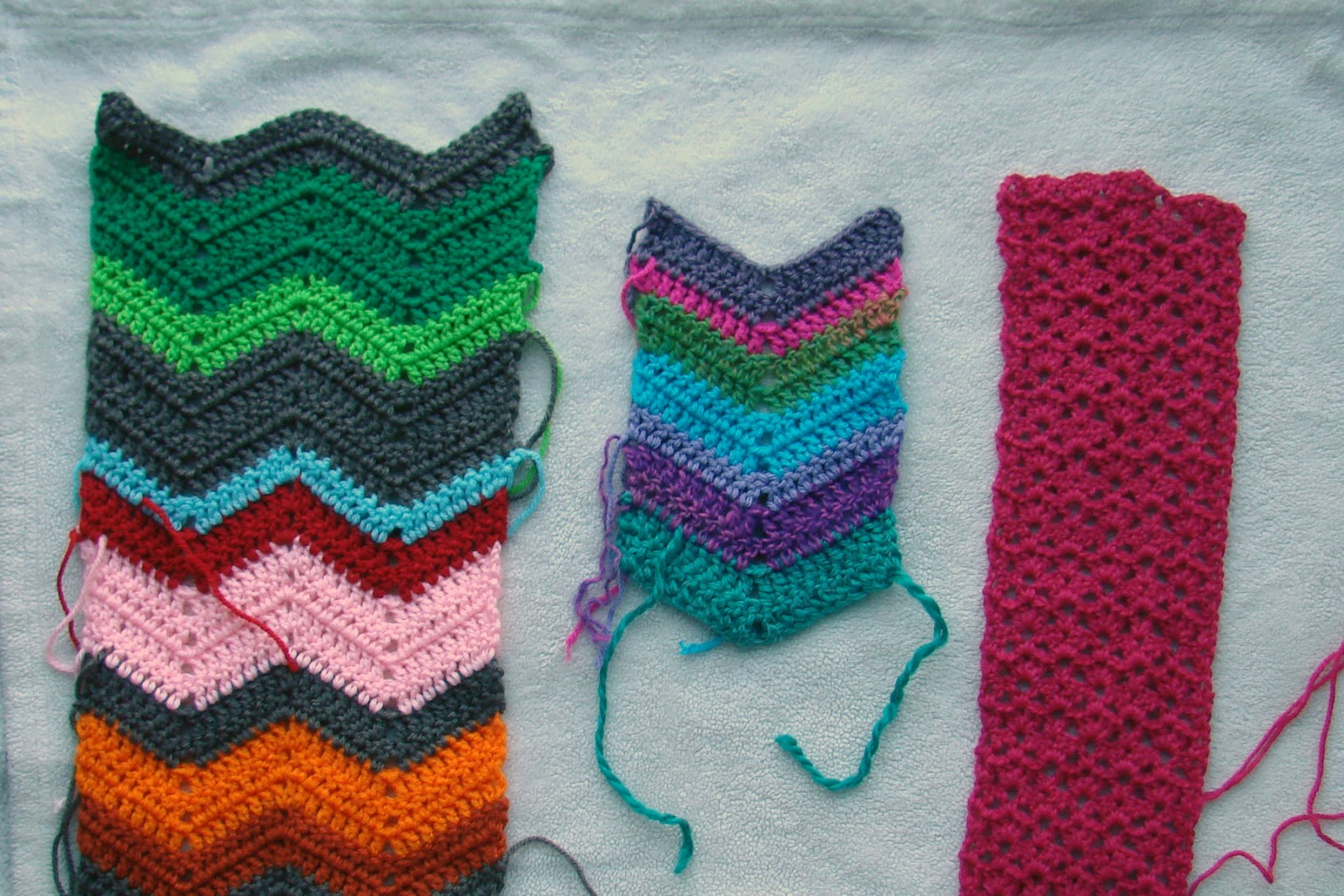 Crochet in Color: Three Scarves