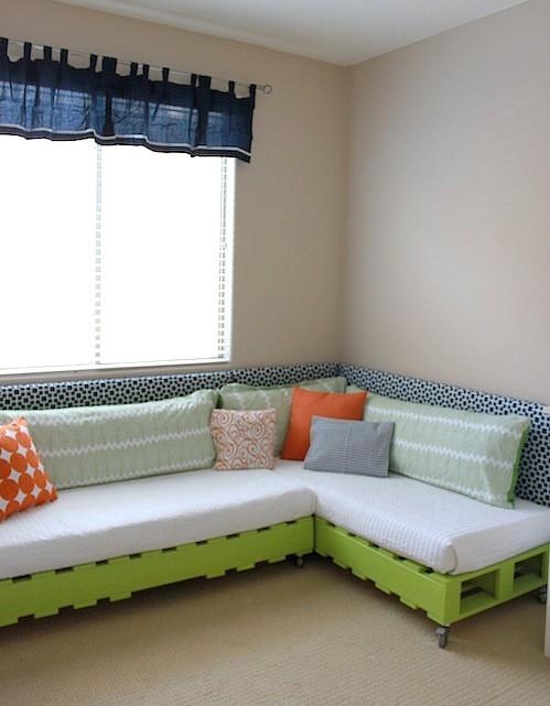 Blog de decorar 20 camas feitas do maravilhoso pallet - Decorar cama como sofa ...