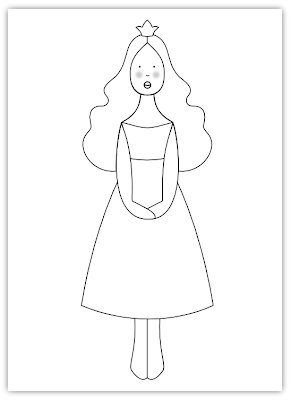princess free hand embroidery pattern