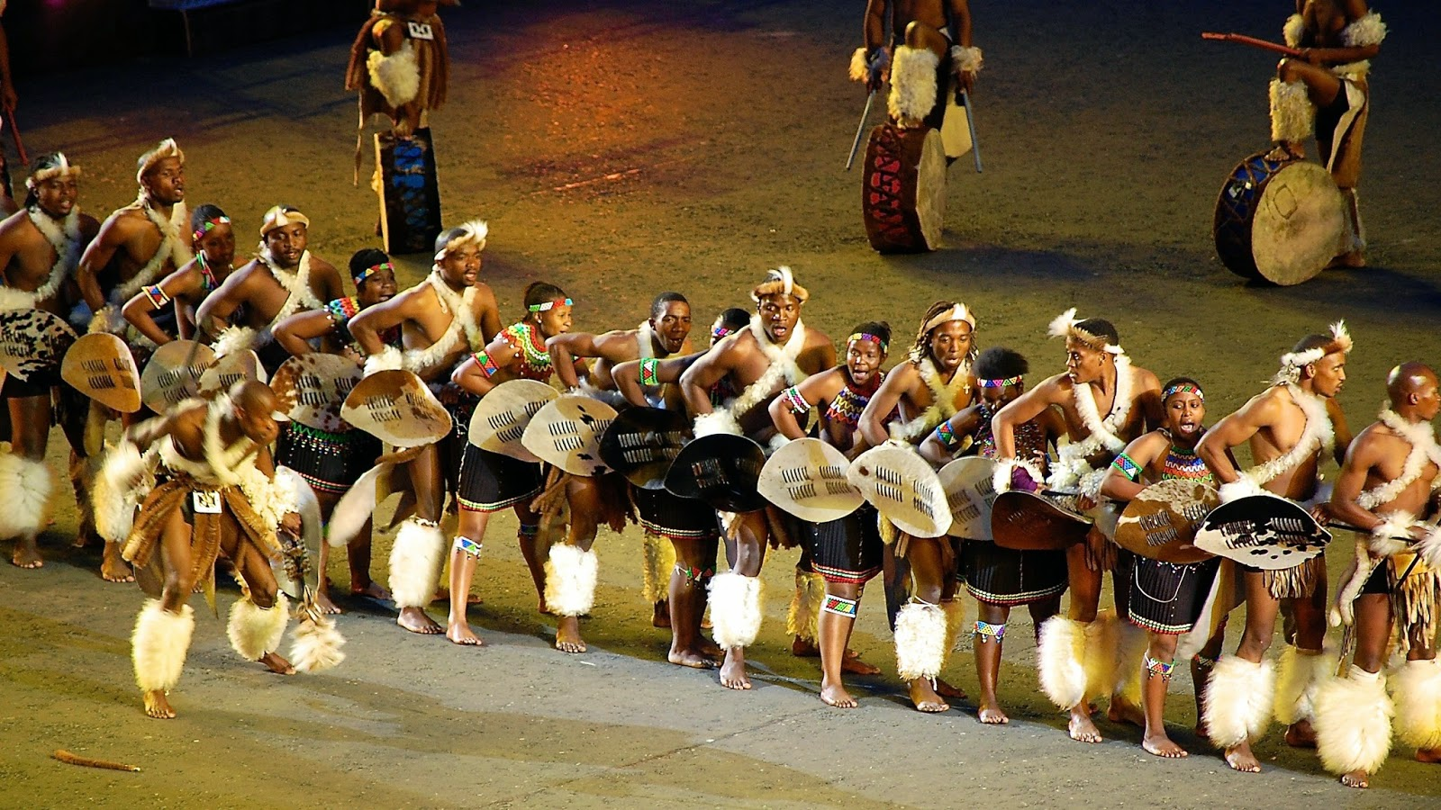 Zulu dancing at Royal Edinburgh Military Tattoo