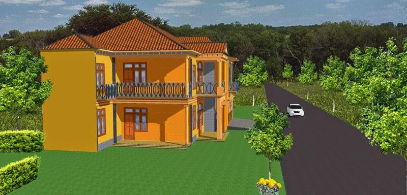 desain rumah sederhana 3d