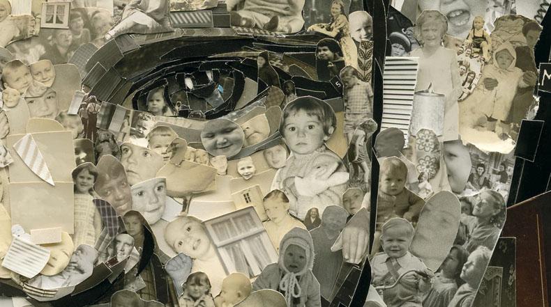 Impresionantes collages a gran escala compuestas de miles de fotografías cortadas a mano