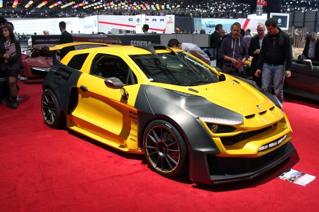 Hybrid racing car Sbarro Sparta Geneva Motor Show 2014
