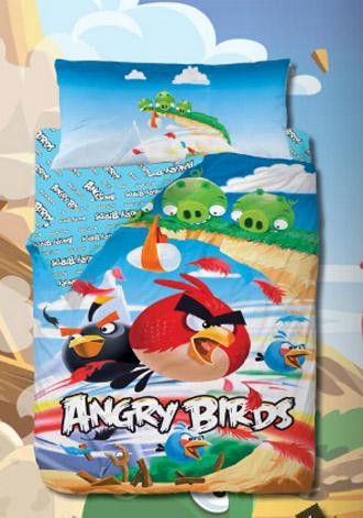 Funda Nórdica Angry Birds Cliffhanger.  Colección Gamanatura