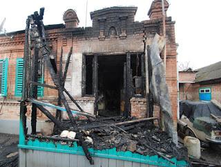 Уютный домик ветерана выгорел практически полностью