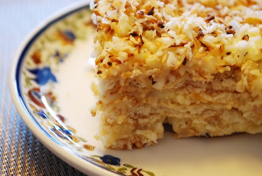 Ciasto budyniowe z kokosem (rafaello)