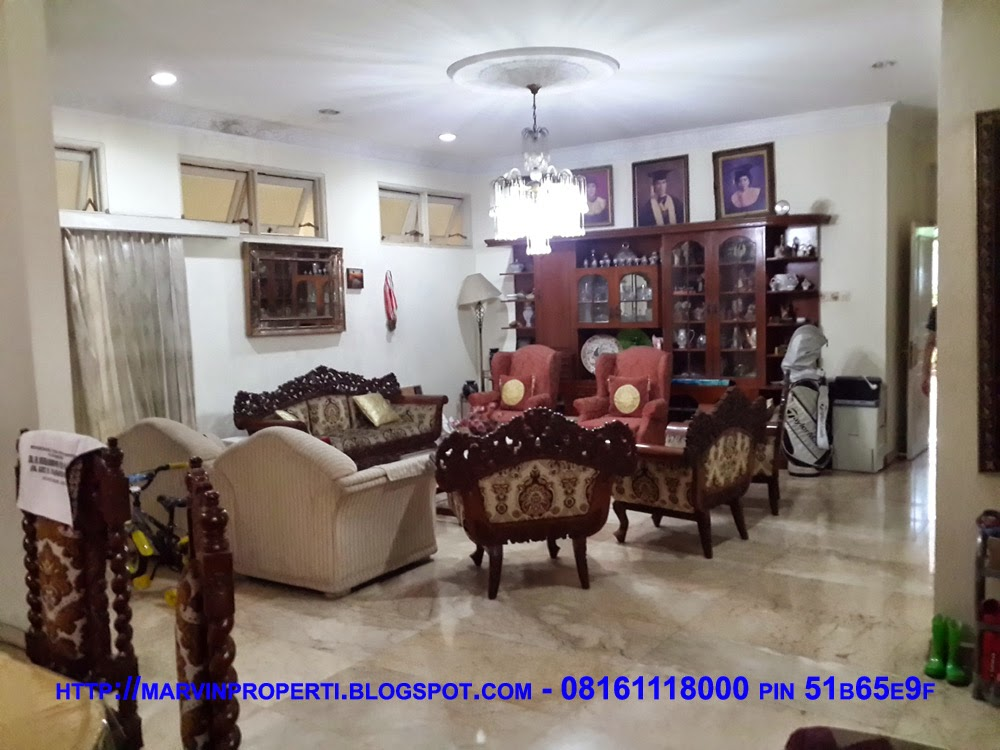 Rumah Dijual di jalan bojonegoro menteng Jakarta pusat ruang tamu januari 2015