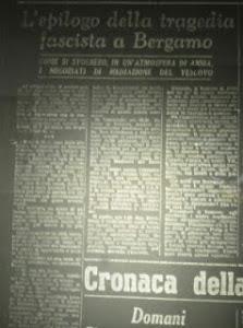 """""""L'ECO DI BERGAMO"""" DEL 3 MAGGIO 1945"""