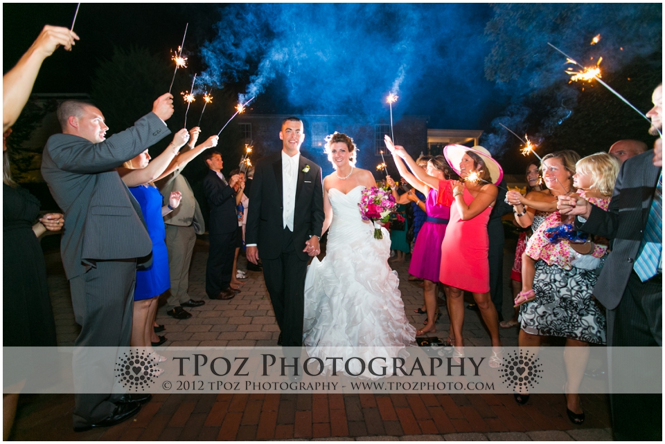 Sparkler Exit at Thomas Birkby House Wedding