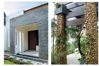 rumah minimalis dengan batu alam