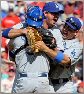 Josh Beckett celebrates no-hitter.  ~Pham Singh