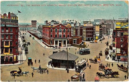 Boston Haymarket Square 1909