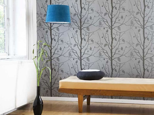 Different wall finishes for the interior design of your for Wallpapers designs for home interiors