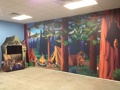 Kids Church Theming - Digital Wallcovering/TV Facades