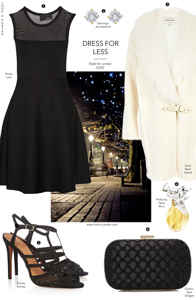 How to style little black dress / My idea of chic - a party outfit for under £250. Via www.look-a-porter.com style & fashion blog