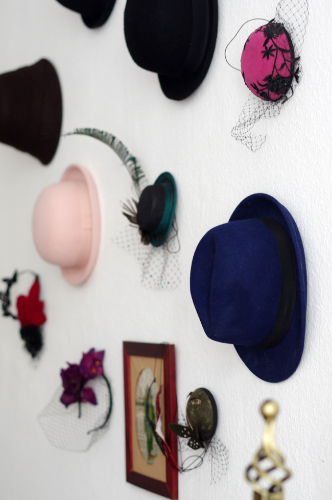 mad hatter wall decoration by xenia kuhn for fashionrolla.com