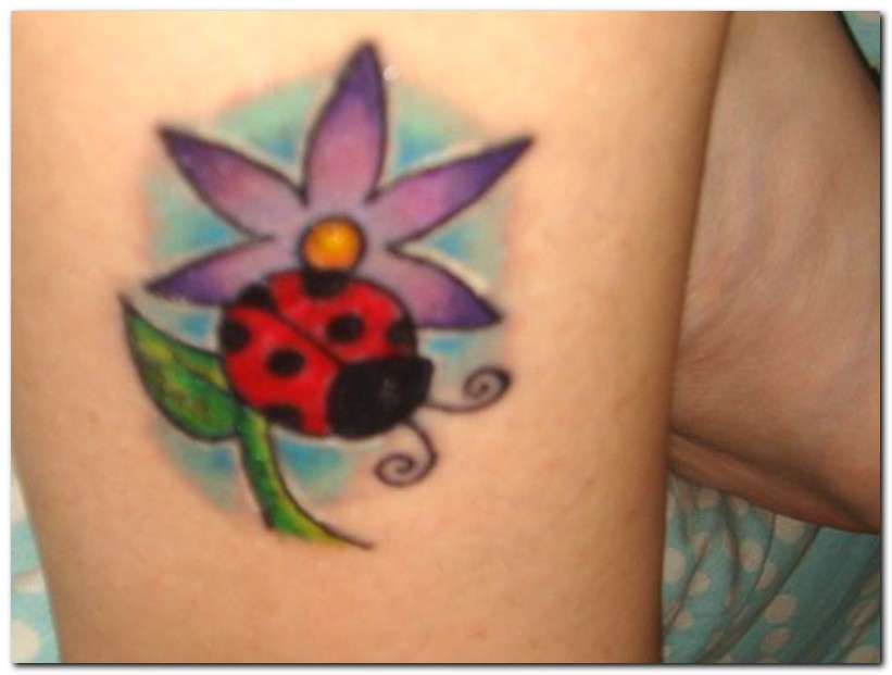 Ladybug Tattoos For Girls