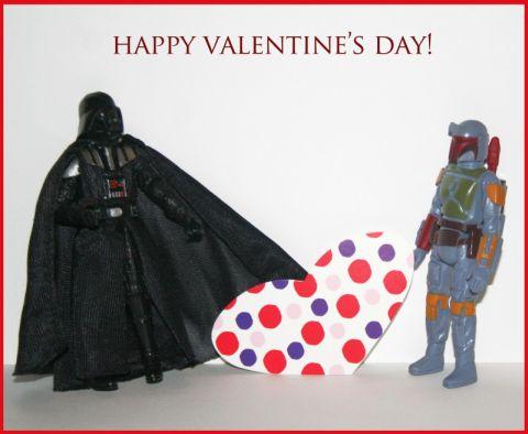 Дарт Вейдер желает счастливого дня святого Валентина star wars valentine