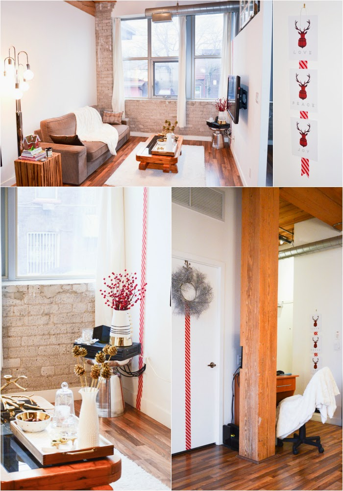 Contemporary Christmas decor ideas in a rustic Toronto Loft