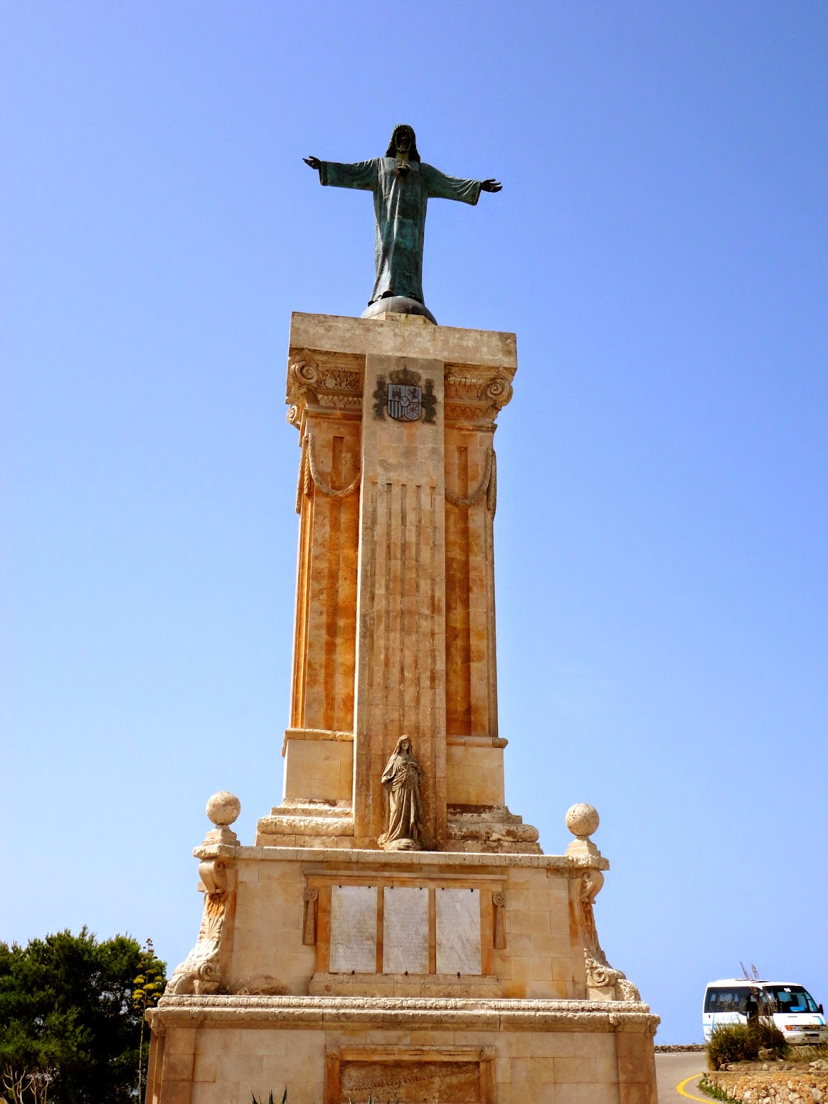 Travel Inspiration | Menorca, Spain | Christ statue monument on hilltop