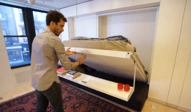 250 square apt foldout beds