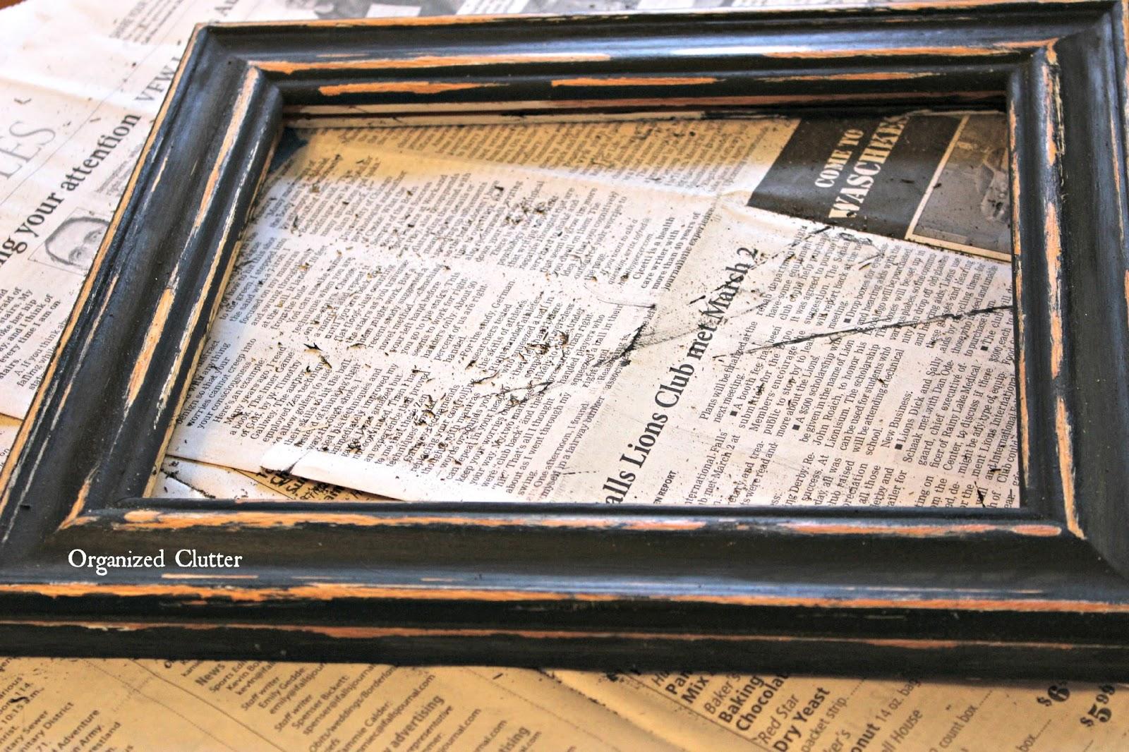 vintage clothes hanger re purpose - Distressed Frames