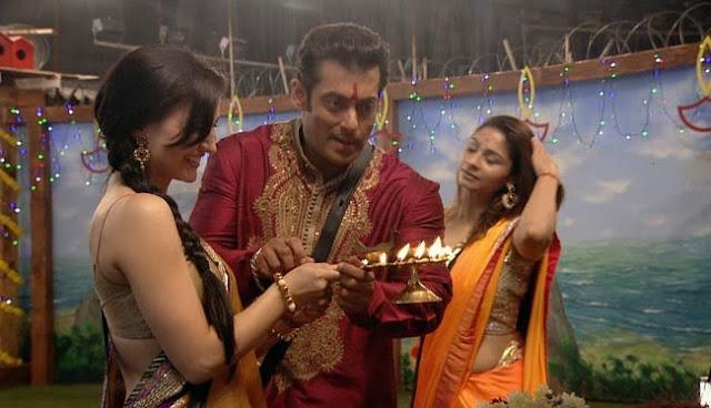 Salman Khan joins contestants on Diwali celebration