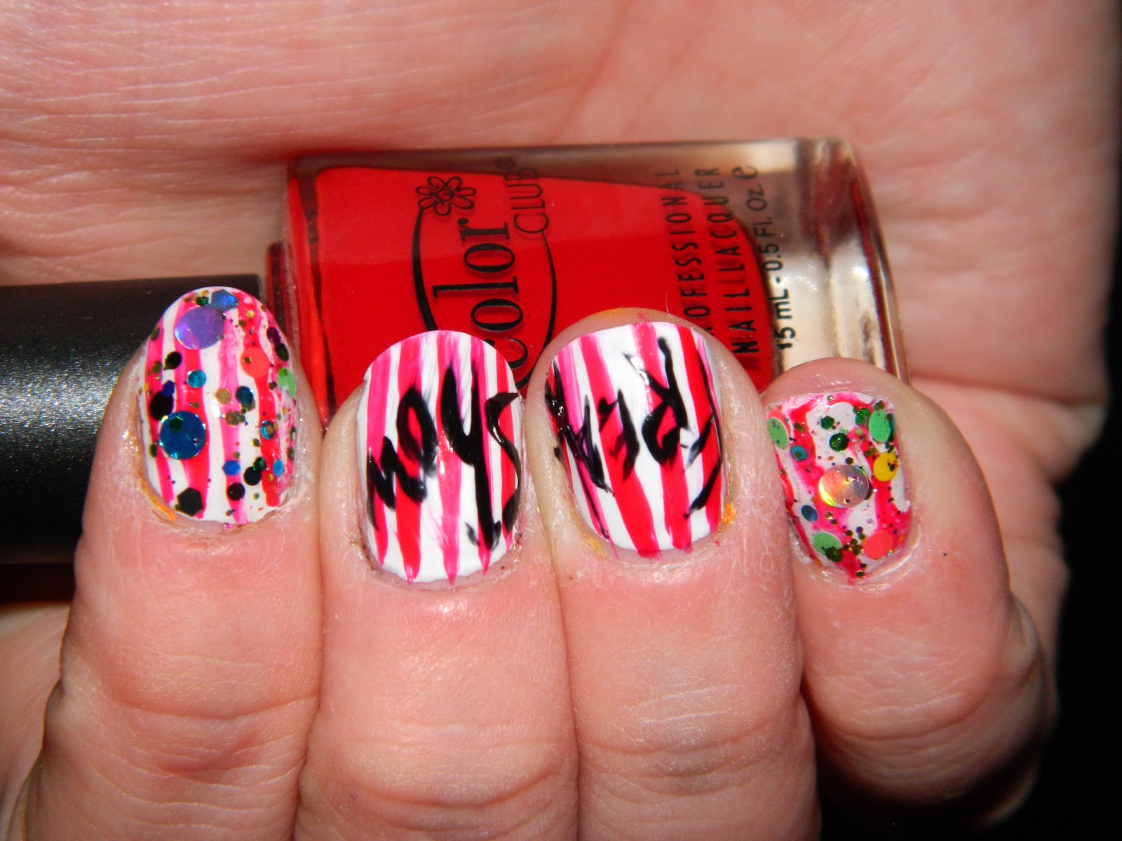 Cutting edge polish freak show nail art this nail art was inspired by the show american horror story freak show prinsesfo Image collections