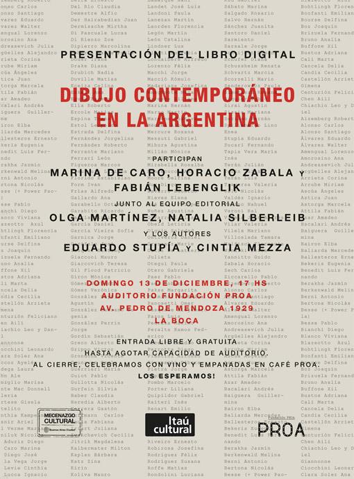 Presentacion en Proa del libro Dibujo Contemporaneo en la Argentina