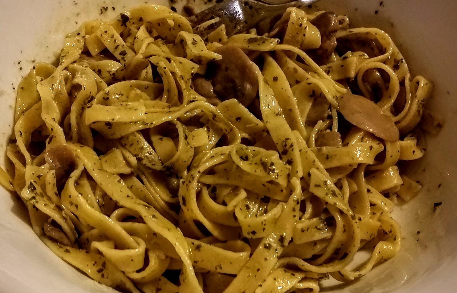 la famiglia in cucina: tagliatelle ai funghi risottate nel bimby - Come Cucinare I Funghi Surgelati