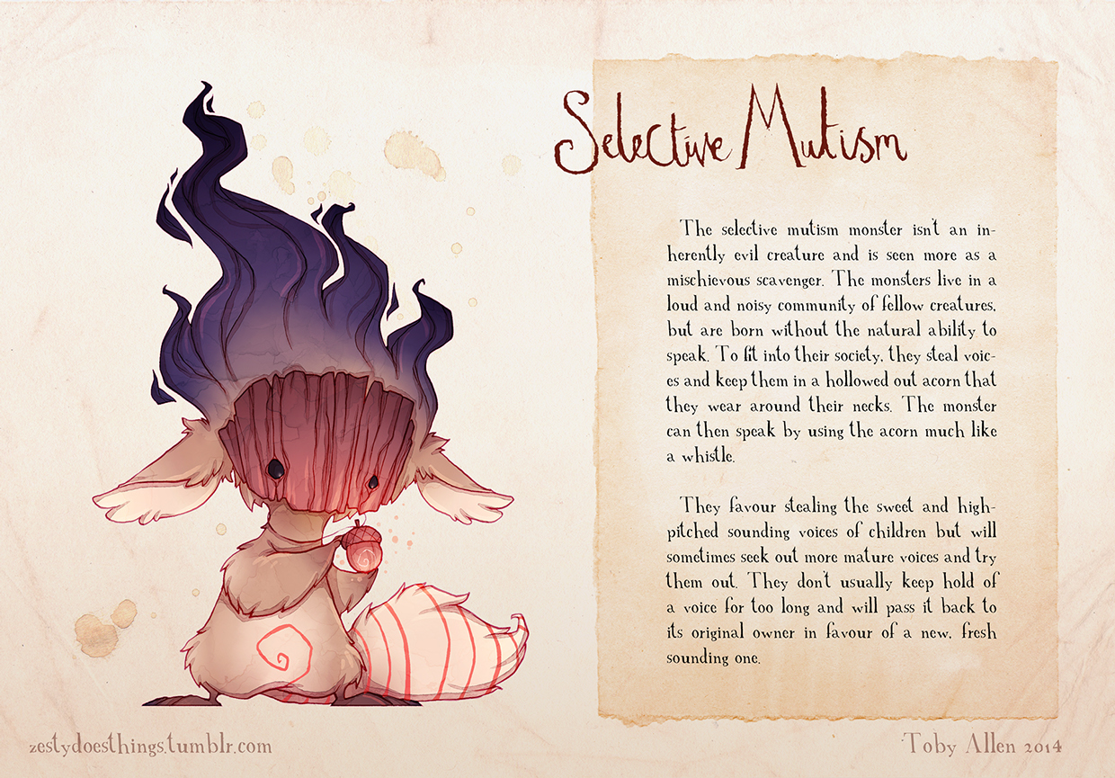 14-Selective-Mutism-Toby-Allen-Monster-Illustrations-to-Embody-Mental-Illness-www-designstack-co
