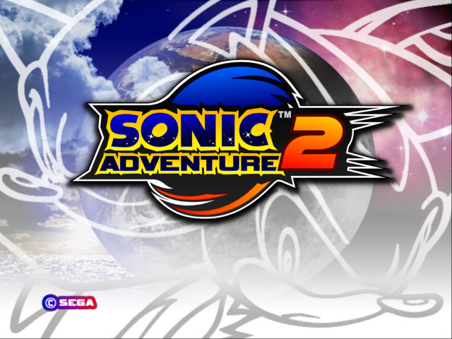 Sonic Adventure 2 title screen logo PC