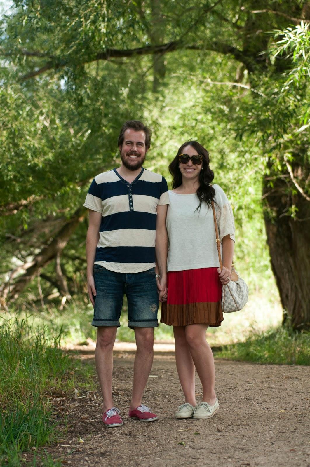 couple fashion, couples style, street style, anthropologie ootd, karen walker tortoise sunglasses, mens ootd