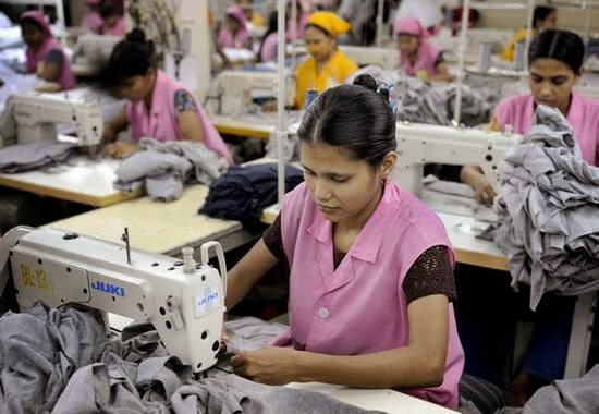 Bangladeshi workers in apparel industry