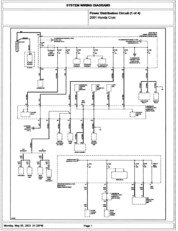 2001 Honda Civic Wiring Diagram Information Guide ~ Free ...