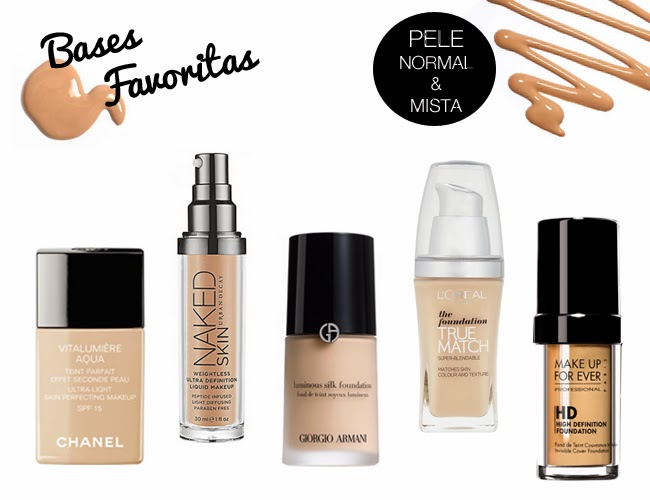 bases, favoritos, maquilhagem, favorite, foundation, review, daniela pires, pele seca, naked urban decay, bobbi brown skin, revlon, vitalumiere, hd foundation, giorgio armani, l'oreal true match