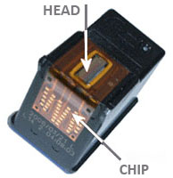 how to clean printing head of hp6968