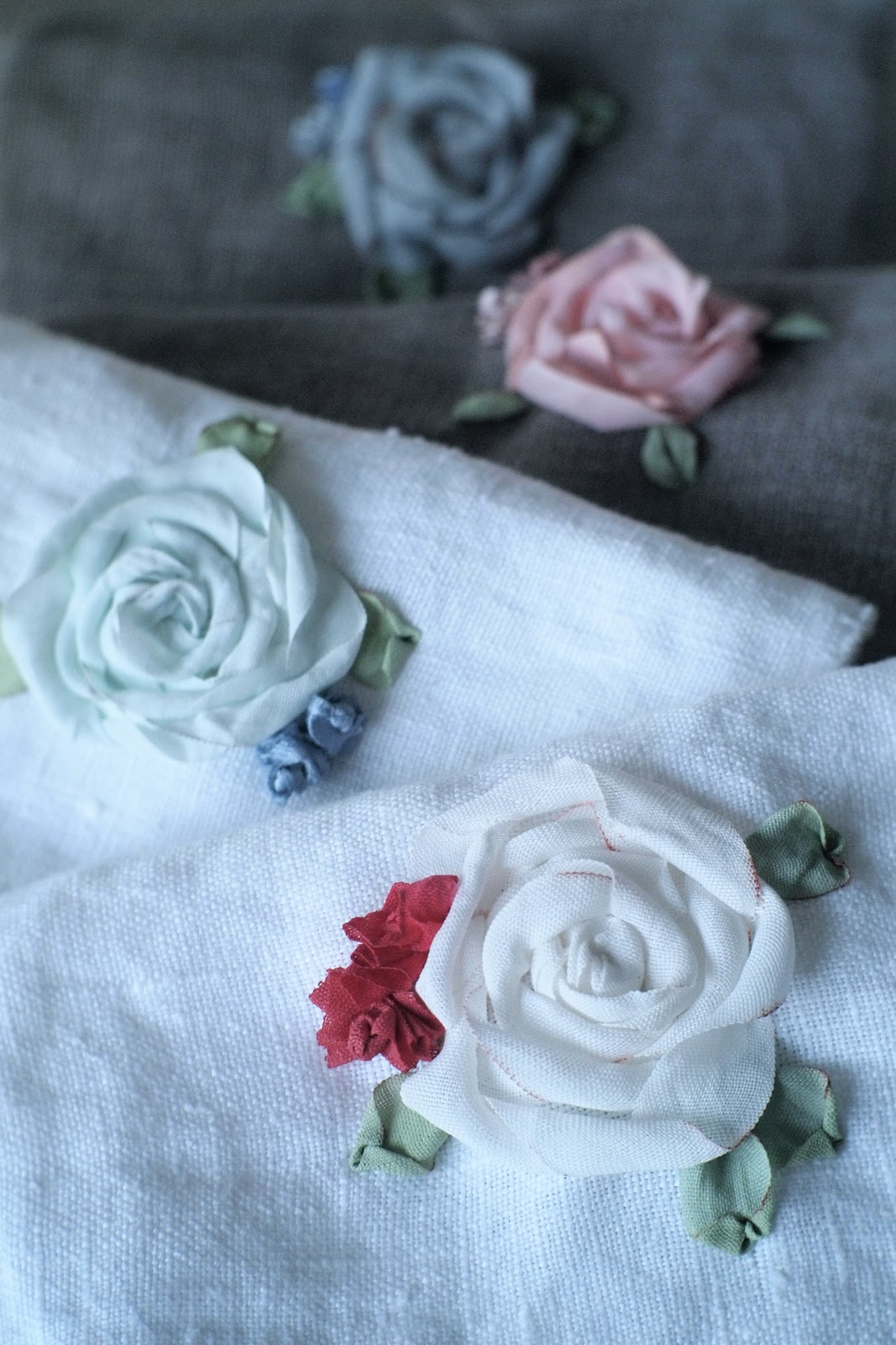 When decorating silk ribbon embroidery
