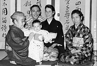 John Edward Mack with his then wife, Sally, and their first child, Daniel, in Japan, 1960