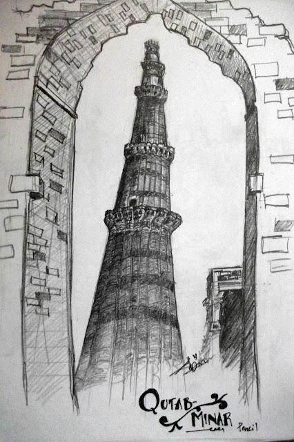 Qutab Minar Sketch