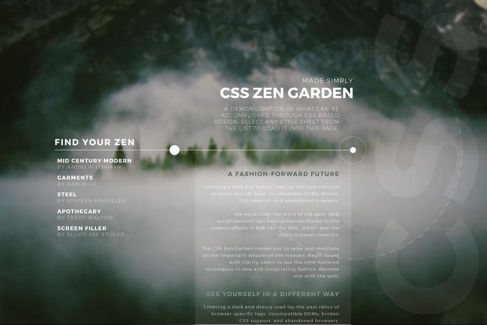 blog post 3 css zen garden comps - Css Zen Garden