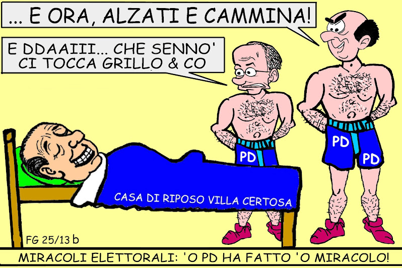 PIU&#39; A SUD - LA VIGNETTA DI FRANCO GALLO