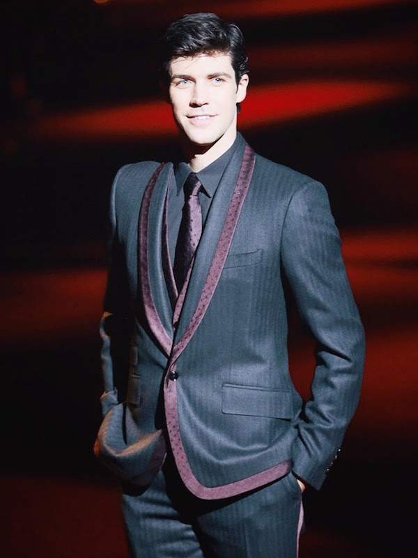 Roberto Bolle at Dolce and Gabbana show during the Milan Fashion Week Womenswear Spring Summer 2015