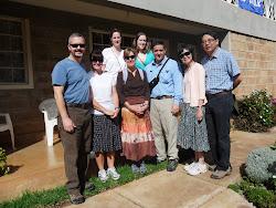 Group photo before our walk up Motigo