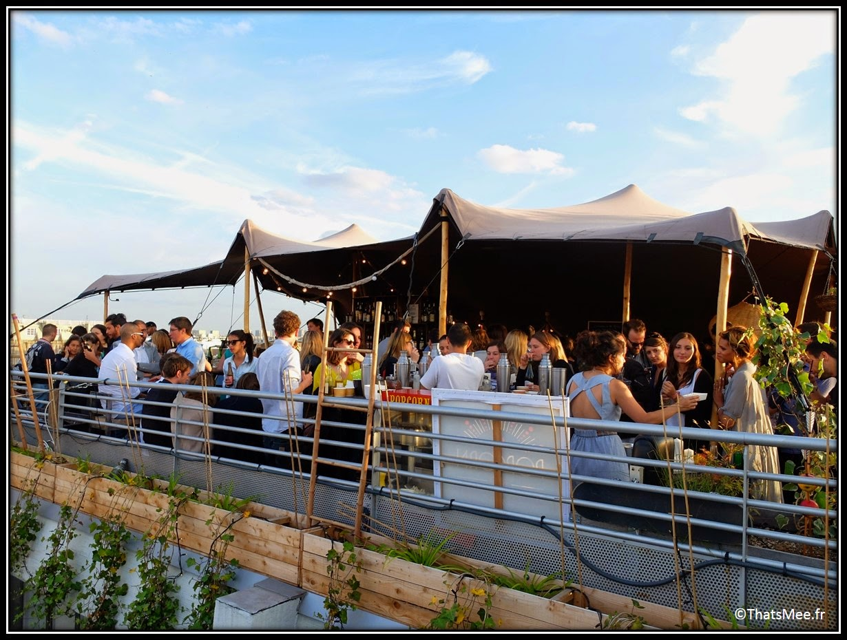 bar perchoir hipster rooftop Paris vue,  Perchoir sur toits de Paris tente auvent, Perchoir cidres perchés soirée privee Paris 11eme bar cocktails
