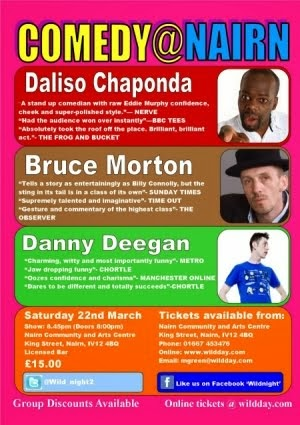 Next Comedy@Nairn Saturday 22nd March - Nairn Community Centre