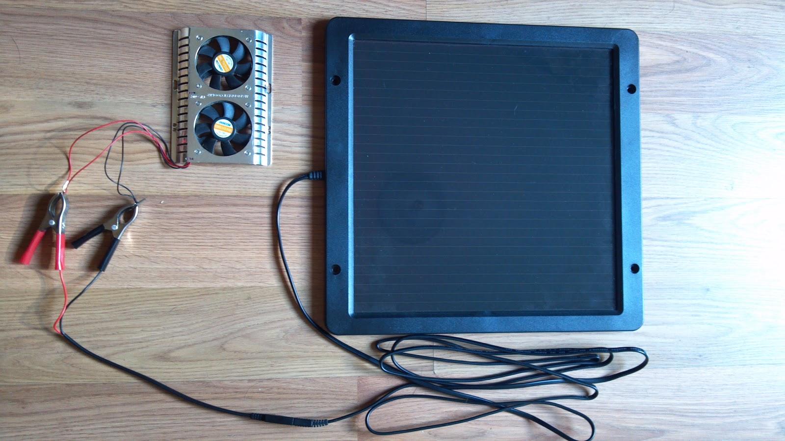 Home Made Solar Fan Kit